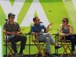 Ned Vizzini, Blake Nelson, and Lauren Strasnick at 2011 LATimes FOB.jpg